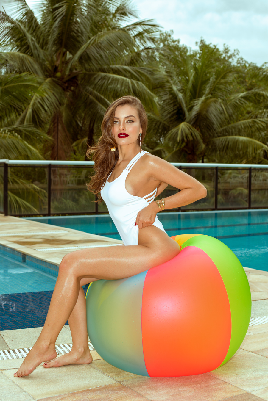 Colour Grading and Retouch - Pool Side Glamour / Post processing by Claire Rees Design / Uploaded 17th September 2019 @ 07:17 PM