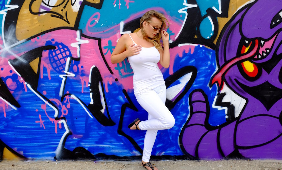 Graffiti / Photography by BobtheDriver, Model Penny Lee / Uploaded 11th August 2016 @ 05:19 PM