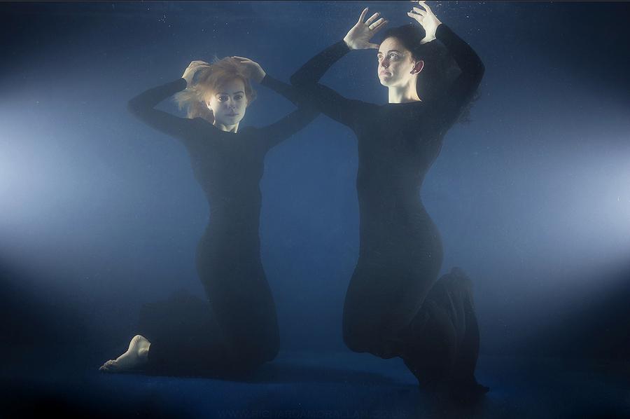 Black Dress Series, Underwater 2 / Photography by Dag Nammett, Models Jessica Buckland, Models Rachyy, Taken at TankSpace / Uploaded 1st May 2021 @ 09:53 AM