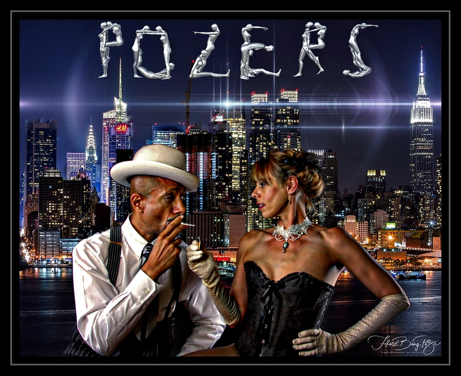 PoZer's new advertising avatar - Bright lights..Big city.. anything can happen if you dream it... / Photography by Flash. Bang. PoZe. Photography by Alley, Models M e l a n y, Models Retro Rob, Makeup by M e l a n y, Post processing by PoZersStudio, Stylist Retro Rob, Taken at PoZersStudio, Hair styling by M e l a n y, Artwork by PoZersStudio, Designer PoZersStudio, Assisted by PoZersStudio / Uploaded 25th August 2018 @ 01:32 PM