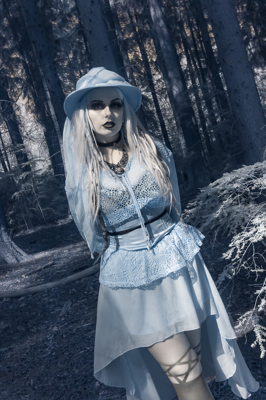 Infrared Gothic / Photography by @PhotoPhilljk, Model Laurensafreak, Makeup by Laurensafreak, Post processing by @PhotoPhilljk, Stylist Laurensafreak / Uploaded 1st June 2021 @ 08:38 AM