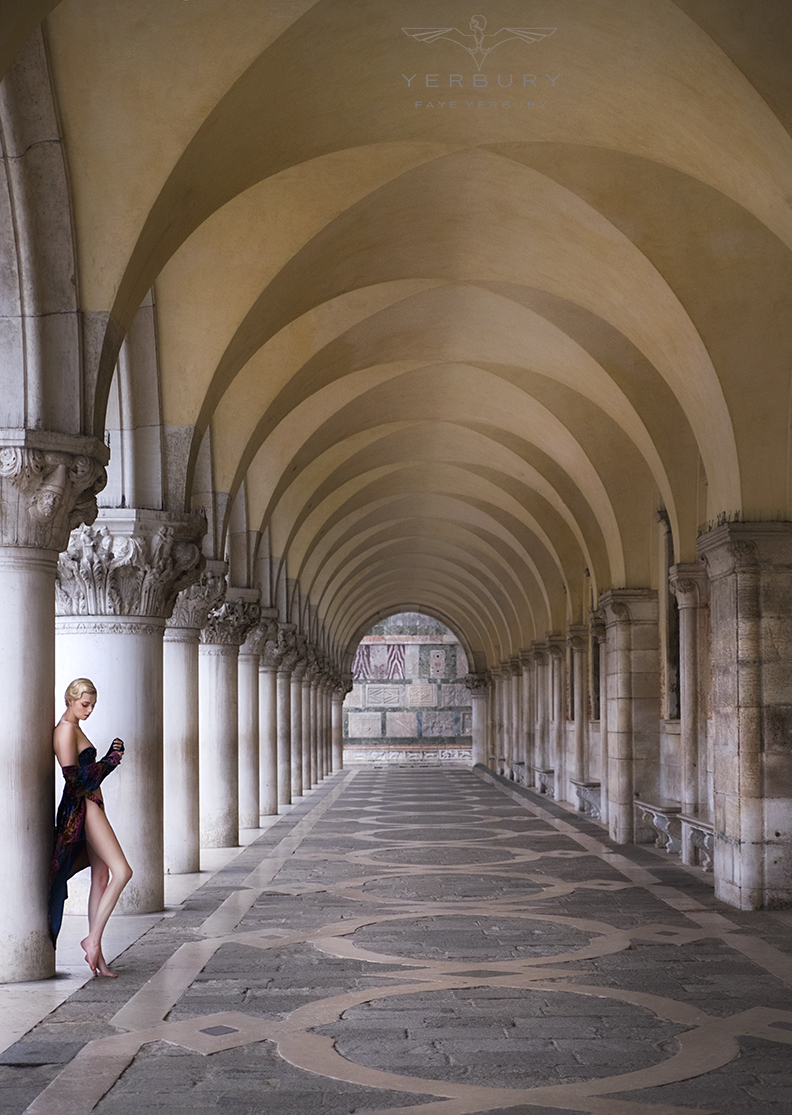 St Marks Cloisters Venice / Photography by Faye Yerbury, Model Riona Neve, Makeup by Riona Neve / Uploaded 4th September 2018 @ 12:28 PM