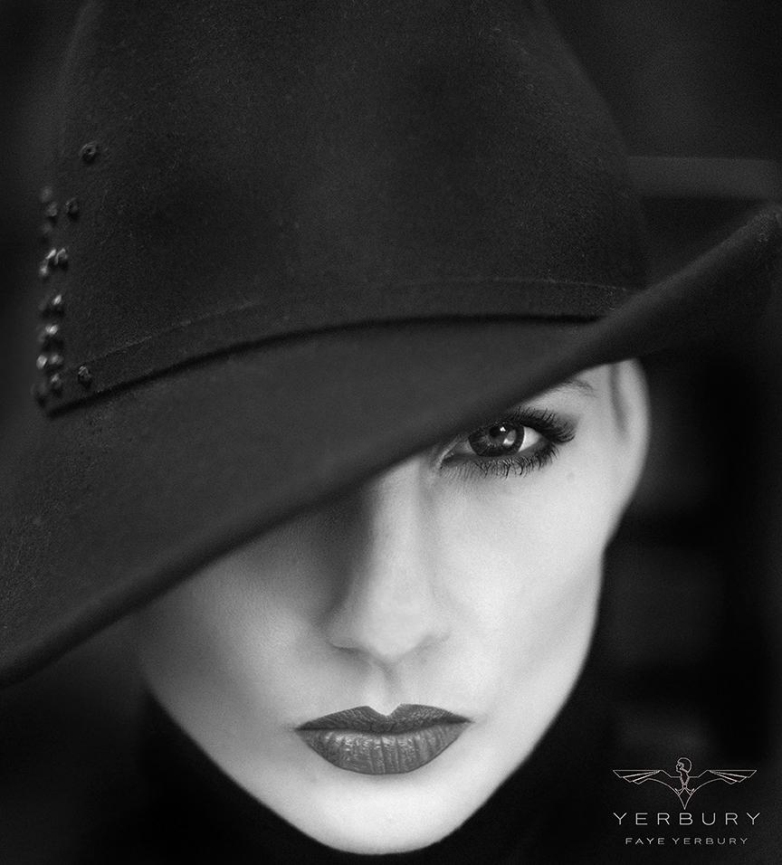 Vex in black hat / Photography by Faye Yerbury, Model Ulorin Vex, Makeup by Faye Yerbury, Post processing by Faye Yerbury, Stylist Faye Yerbury, Taken at Faye Yerbury, Hair styling by Faye Yerbury, Designer Faye Yerbury / Uploaded 29th August 2021 @ 08:33 AM