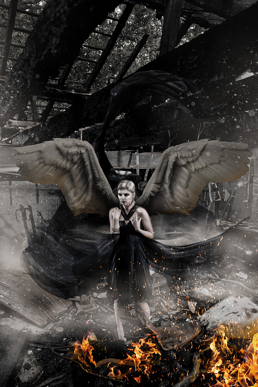Burnt Angel / Photography by Andrew Dobell, Post processing by Creative Edge Retouch / Uploaded 1st December 2014 @ 02:08 PM