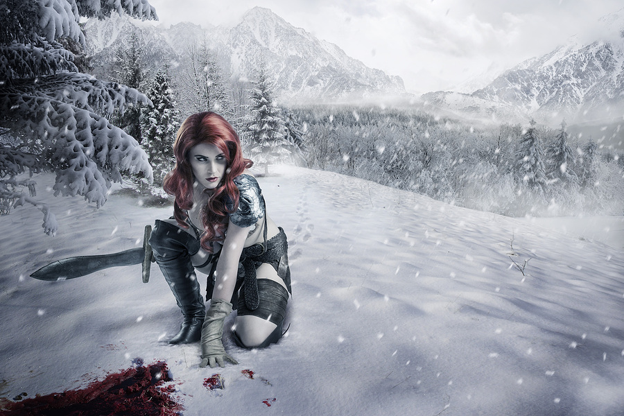 Crimson Snow / Photography by Andrew Dobell, Makeup by Tania Claire, Post processing by Creative Edge Retouch, Taken at Square 1 Studio / Uploaded 28th August 2014 @ 01:43 PM