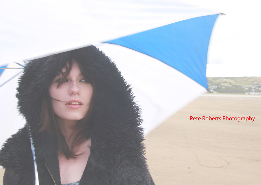 Beach Umbrella / Photography by Pete Roberts, Model Arielle Fox / Uploaded 31st August 2013 @ 12:19 PM