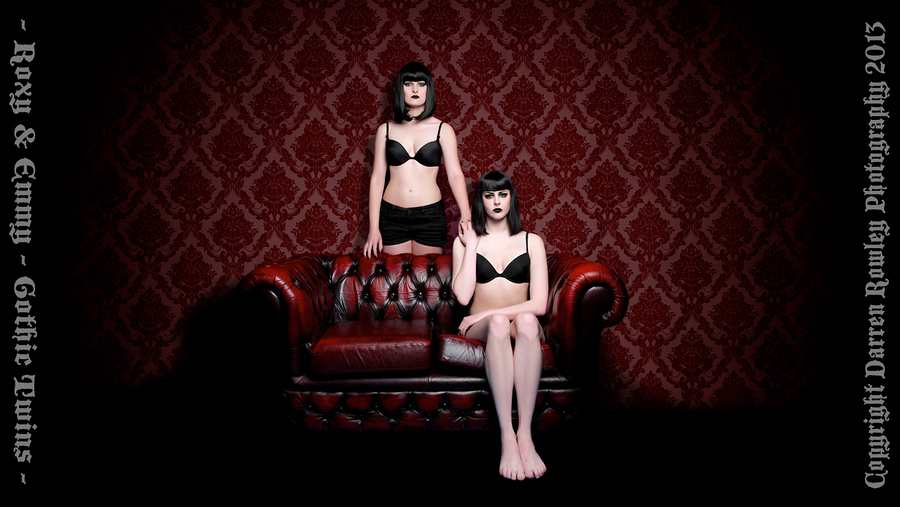 Gothic Twins - Roxy & Emmy / Photography by D Rowley Photography / Uploaded 5th June 2013 @ 01:08 PM