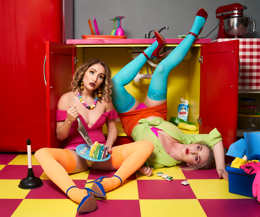 Kitchen Mayhem / Photography by Nick Halling, Models Nicole Rayner, Models Rachelle Summers, Stylist Rachelle Summers, Taken at The Hacienda / Uploaded 19th August 2019 @ 09:49 PM