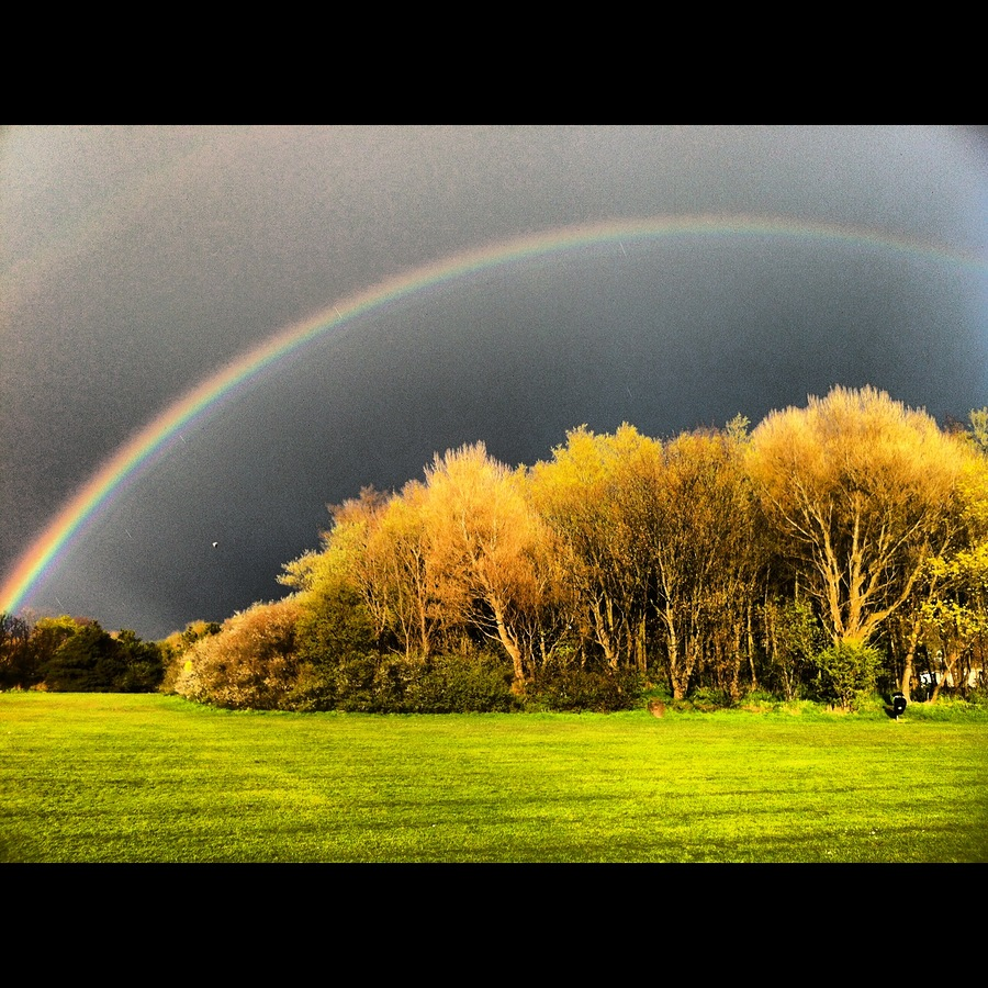 Rainbow over Poulton Le Fylde (Wyre Football ground) / Photography by Blueseastudios / Uploaded 25th July 2016 @ 07:23 PM