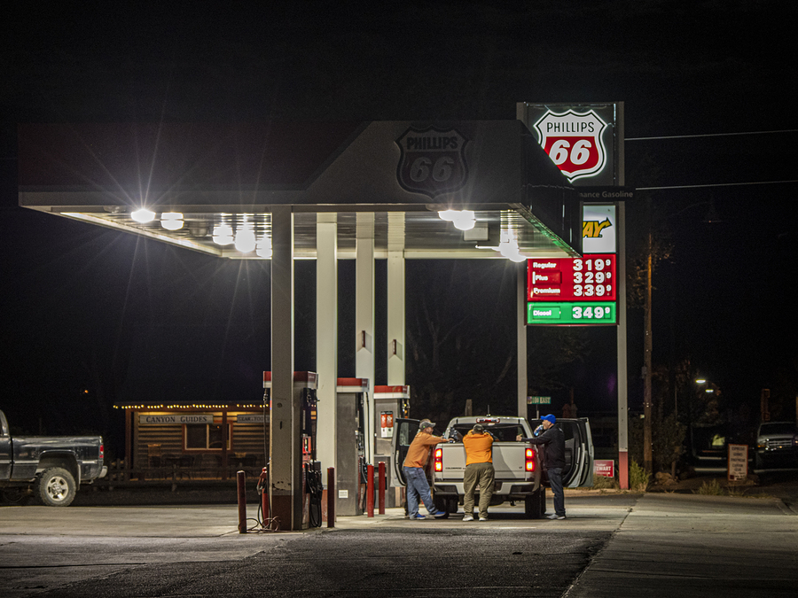 Filling station at night: Moab, Utah / Photography by DrAC / Uploaded 2nd April 2021 @ 02:34 PM