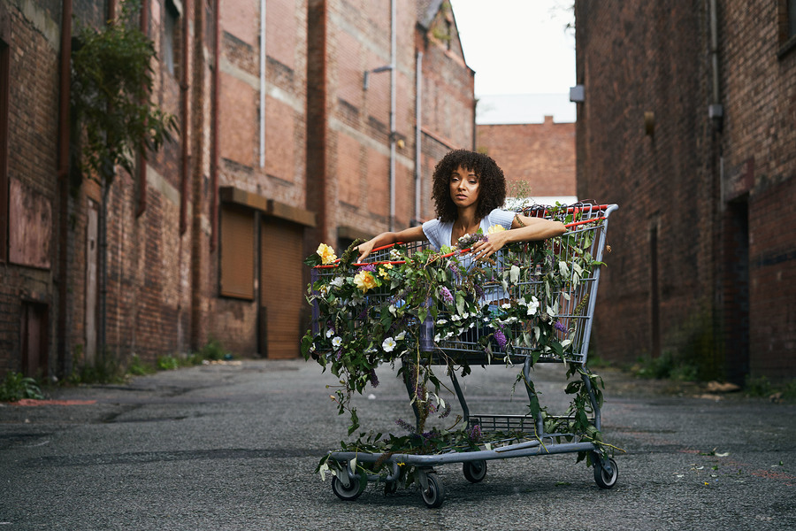 Naami Jane - Trolley In Bloom / Photography by Kyle May, Model NaamiJane, Makeup by Carmen farr, Stylist NaamiJane, Assisted by Carmen farr / Uploaded 18th October 2018 @ 06:49 PM