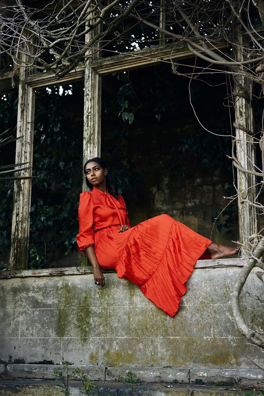 Sahar - Red Dress / Photography by Kyle May / Uploaded 9th August 2020 @ 05:08 PM