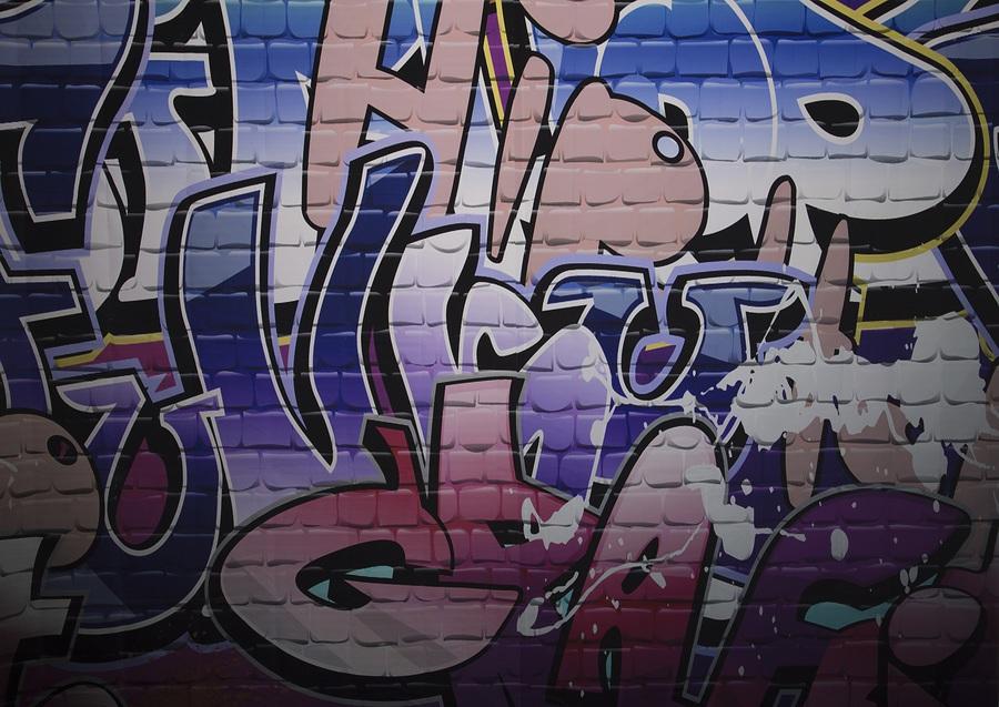 Graffiti Wall backdrop / Taken at Fine and DanDee Studio / Uploaded 26th April 2016 @ 10:41 AM